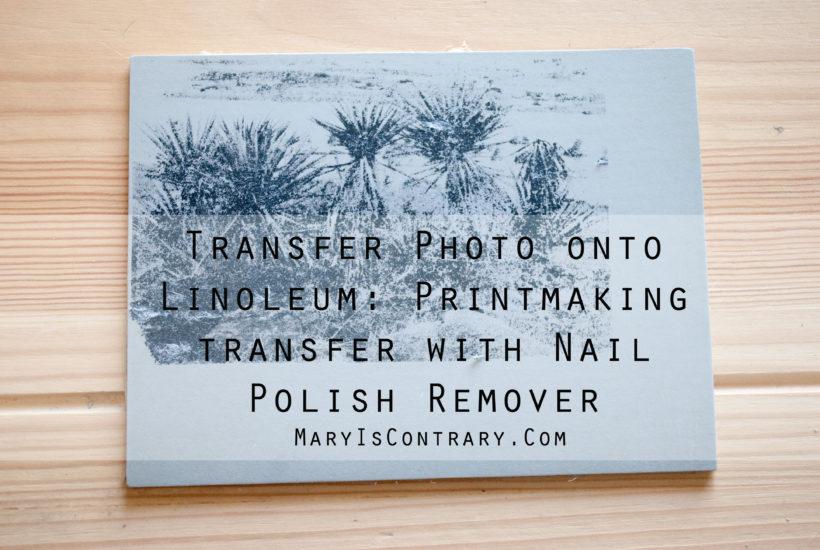 Transfer Photo Onto Linoleum