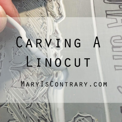Carving a Linocut
